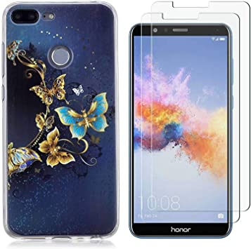 Funda Huawei Honor 9 Lite,Mariposa azul Flexible Suave TPU Gel ...