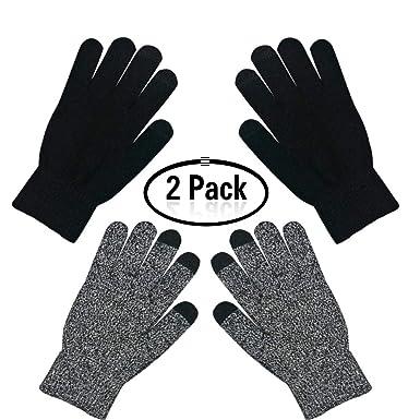 Unisexe hiver chaud écran tactile gants tricotés plein doigt mitaines pour  hommes femmes chaude tricot épais ed1361d0e21