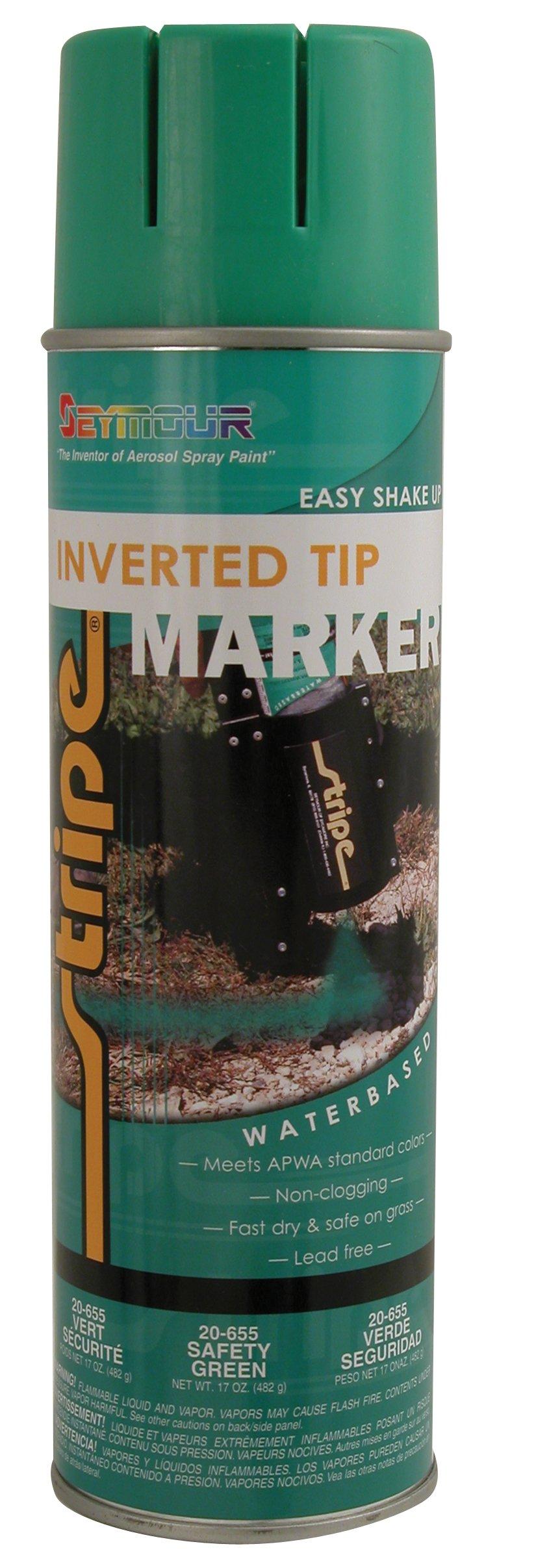 Seymour 20-655 Stripe Inverted Tip Marker, Safety Green