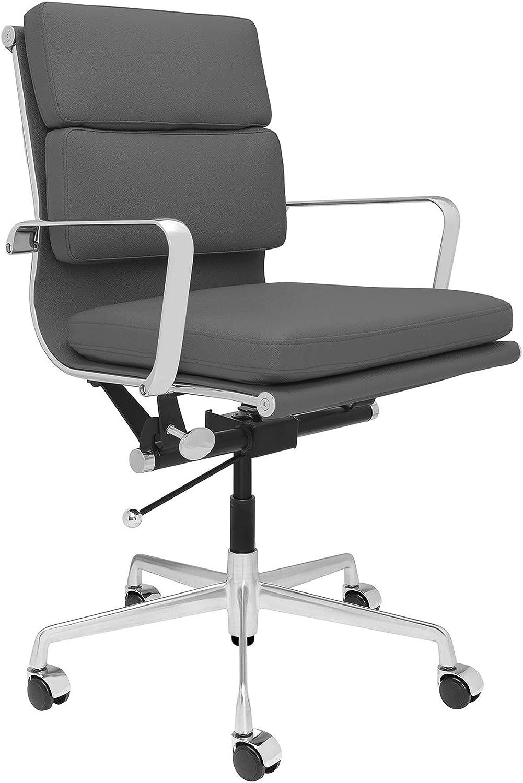 SOHO Soft Pad Management Chair (Dark Grey)