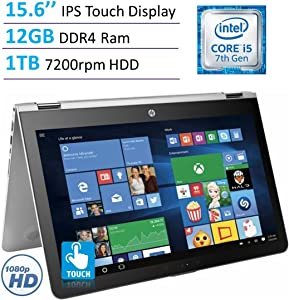 "2017 HP Envy x360 15.6"" Touchscreen 2-in-1 IPS FHD (1920 x 1080) Laptop PC 