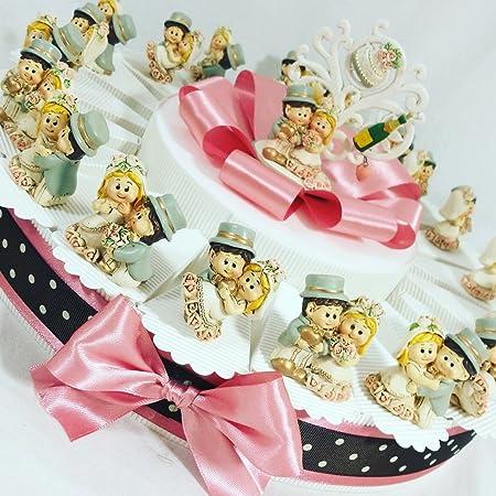 Oggetti Bomboniere Matrimonio.Torta Di Bomboniere Per Matrimonio Oggetti D Appoggio Confetti
