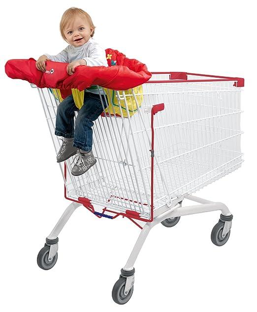 perfeclan Praktische Einkaufswagenschutz Sitzbezug f/ür Einkaufswagen und Hochstuhl bietet Ihrem Baby optimalen Schutz Blauer Punkt