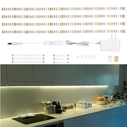 Led Under Cabinet Lighting Under Counter Light Bar Led Strip Lights For Kitchen Desk Showcase Shelf Workbench Cupboard Pantry 1100lm 2700k