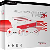 Retro-Bit Super Retro TRIO HD Plus 720P 3 in 1 Console System (2018) - for NES, SNES, and Sega Genesis Original Game Cartridges - Red/White