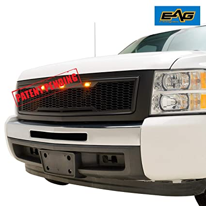 Amazon com: EAG Replacement Upper ABS Grille LED Grill with Amber