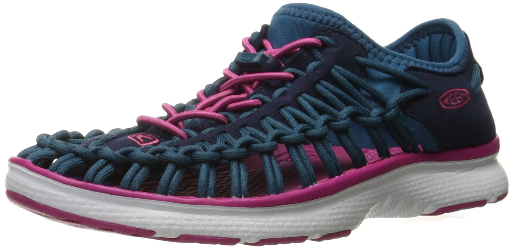 KEEN Unisex-Kids Uneek O2 Dress Sandal, Blue/Very Berry, 3 M US Big Kid