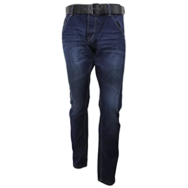 efaadca9ea5 Ringspun Mens Flyford Straight Leg Dark Wash Jeans (30in- Long) (Dark Wash