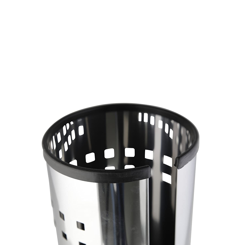 capacidad para tres rollos, 38 cm color plateado Soporte para rollos de papel higi/énico con tapa Axxentia 282240 Bustino