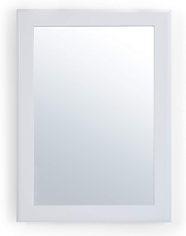 Simpli Home Marlowe 22 inch x 30 inch Bath Vanity Décor Mirror in White