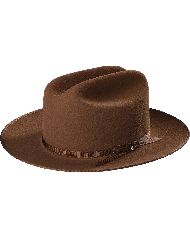 Stetson Men's Royal Deluxe Open Road Hat Brown 7 1/4