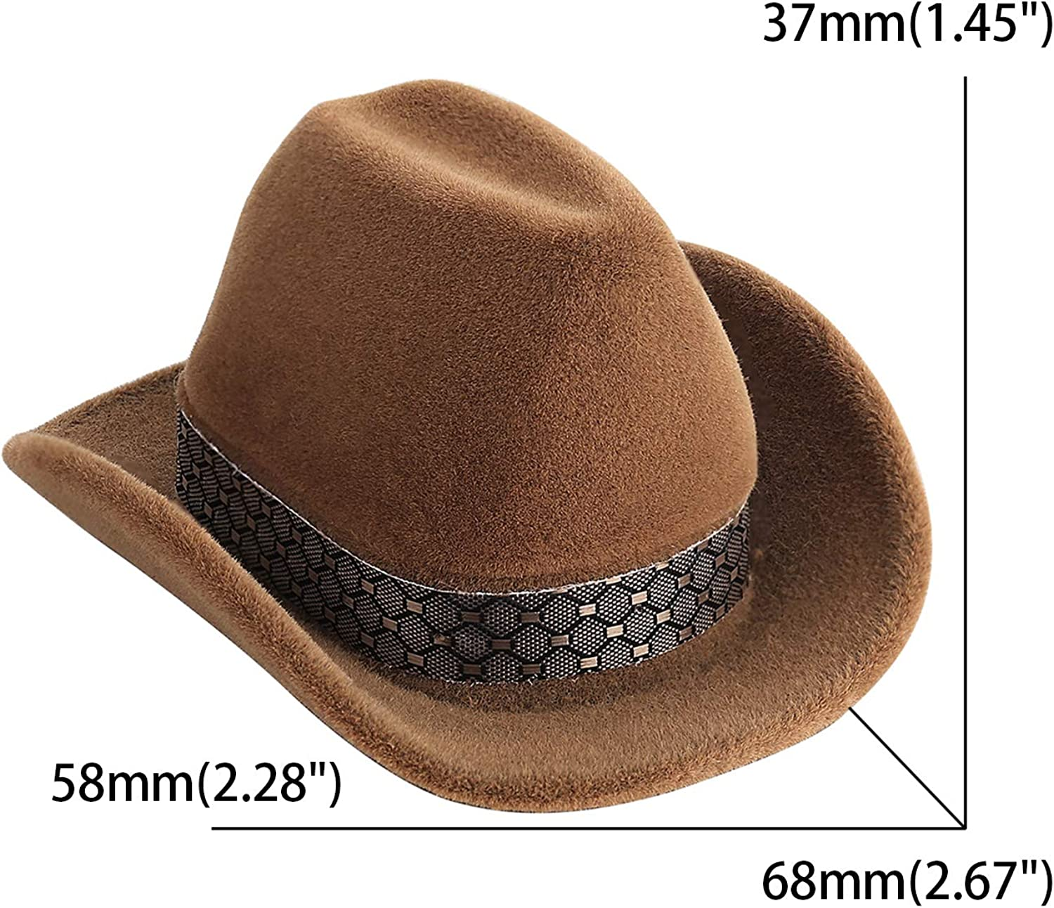 Cowboy Hat Shape Velvet Display Box Jewelry Case For Necklace Earring Ring *IH