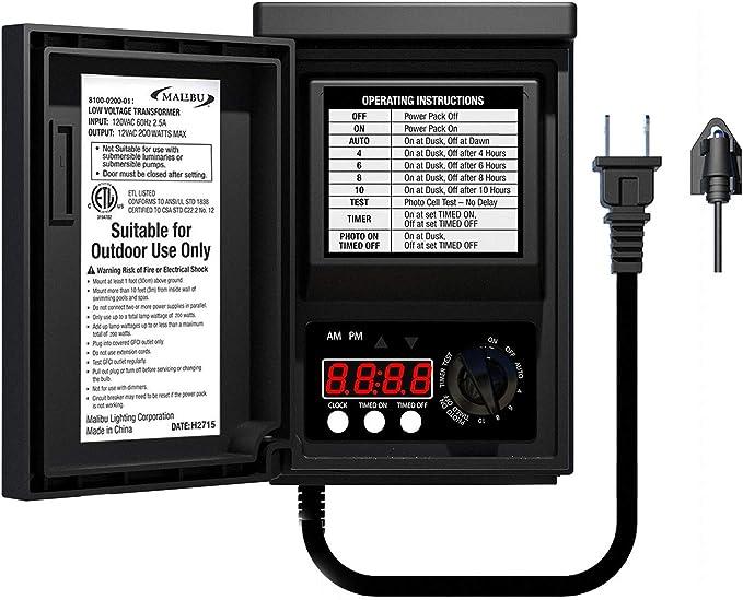 Lighting & Ceiling Fans 200 Watt AC Digital Indoor/Outdoor ...