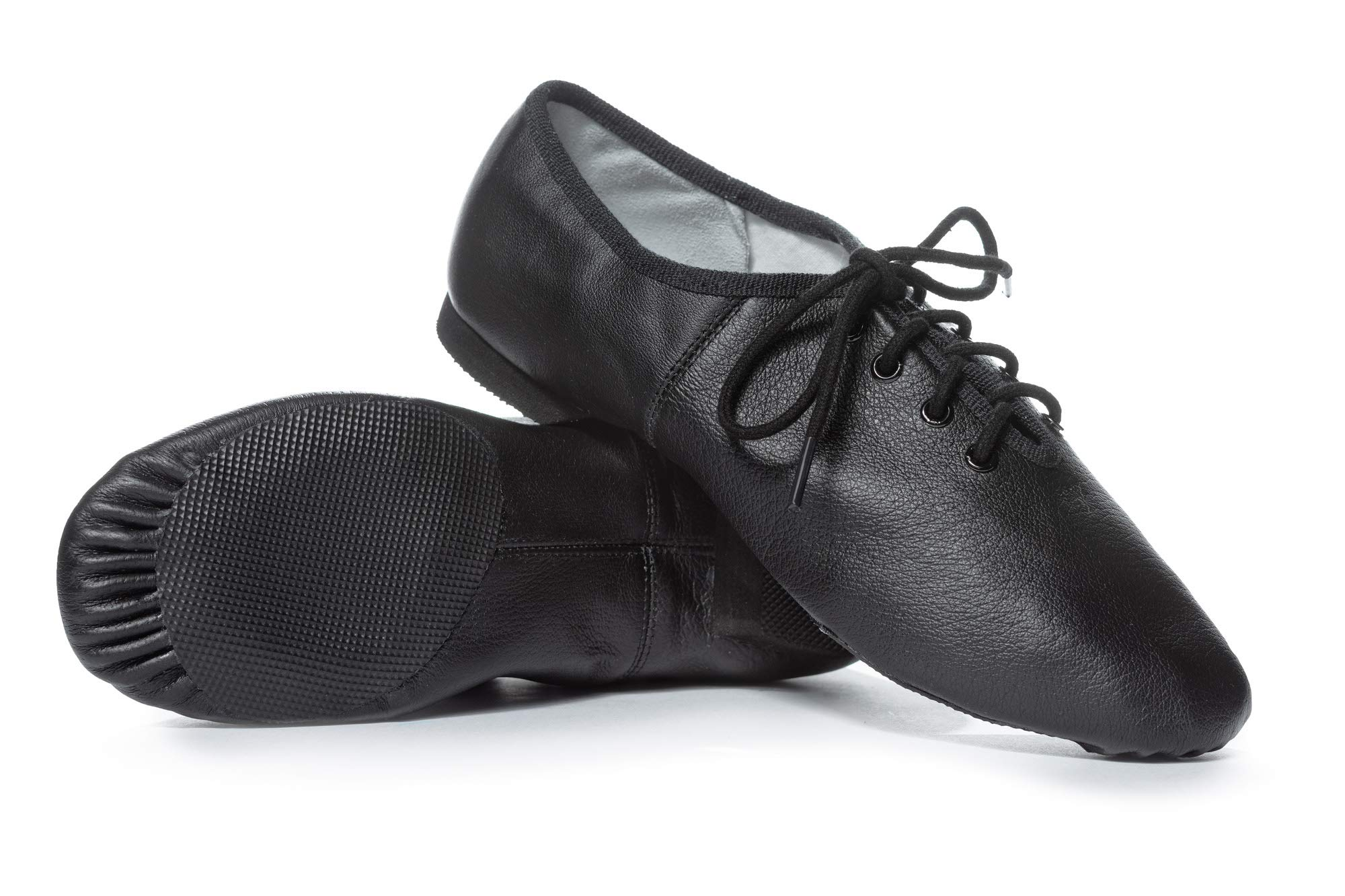 Theatricals Adult Lace Up Jazz Shoes T7302BLK09.5M Black 9.5 M US by Theatricals