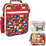 New Sachi Lunch Tote Insulated Bag School Warm Cold Handle Bricks