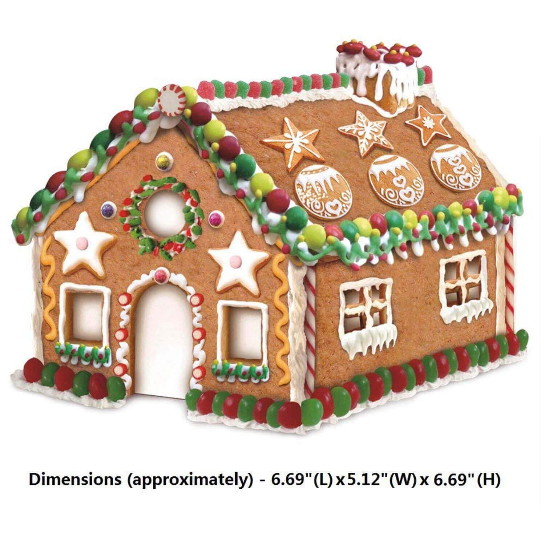 Cortadores de la galleta de la casa de pan de jengibre de la Navidad 3D para el kit de los cortadores del invierno y de la Navidad del día de fiesta, ...