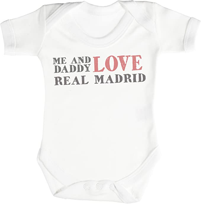 TRS - Me & Daddy Text Love Real Madrid Regalo para bebé, Body para ...
