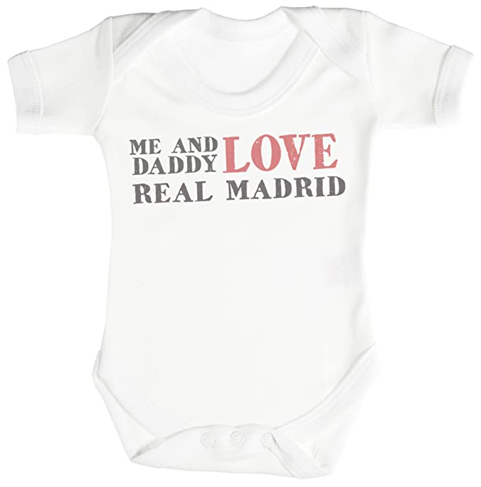 TRS - Me & Daddy Text Love Real Madrid regalo para bebé, body para ...