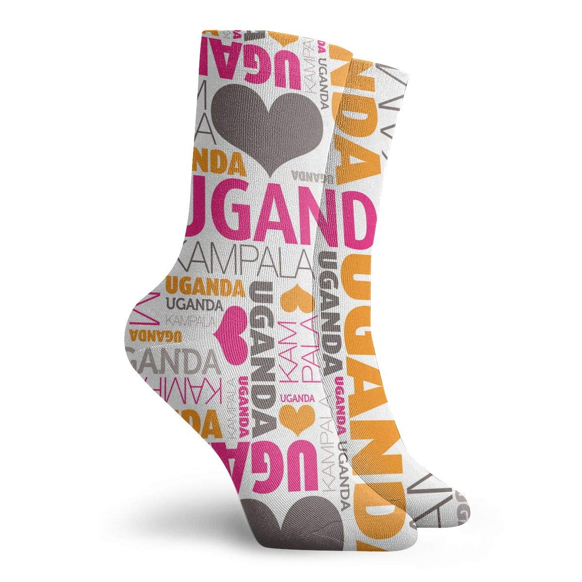 Best for Ski Running TAOMAP89 I Love Uganda Kampala Pattern Compression Ankle Socks for Women and Men Slipper Boot Socks Football