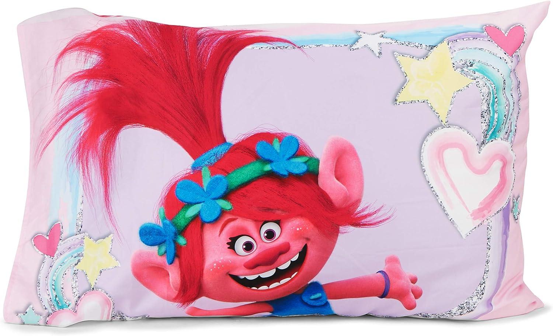 Trolls Hug Time 4-Piece Toddler Bedding Set Pink Toddler