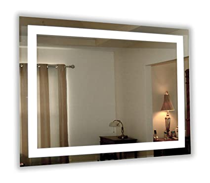 Amazon Com Wall Mounted Lighted Vanity Mirror Led Mam84836