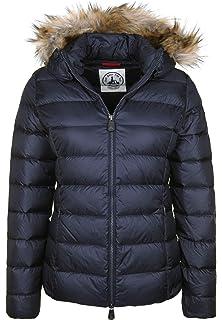 JOTT Damen Daunenjacke Winterjacke Trench Coat Zwei Reiher
