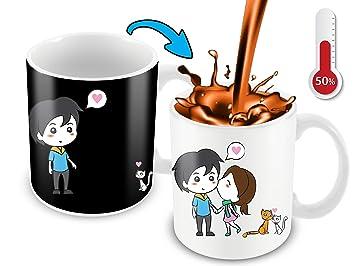 Amazon Com Heat Sensitive Mug Color Changing Coffee Mug Funny