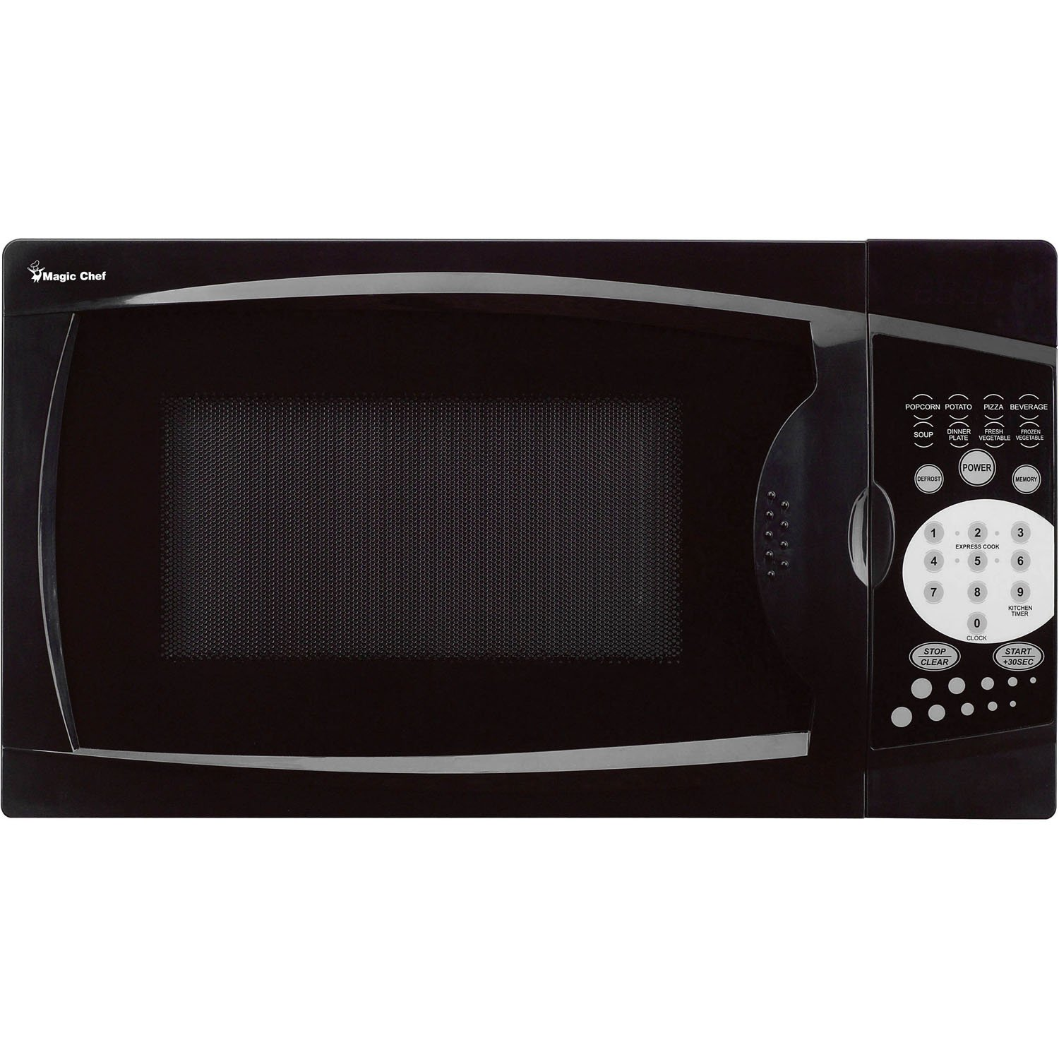 Magic Chef MCM770B 0.7 Cu. Ft. 1000W Black Countertop Microwave Oven 7
