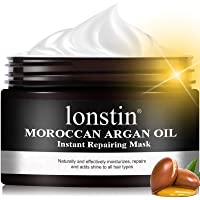 lonstin Hair Mask Treatment, Argan Oil Hair Mask Deep Conditioner Sulfate Free Keratin Hair Treatment Mask for Dry…