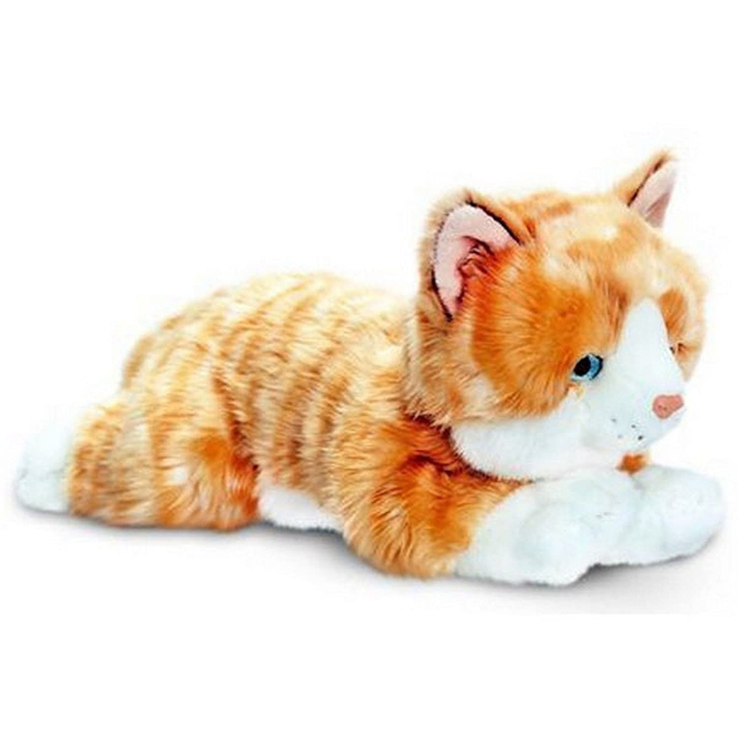 Keel Toys - Chat en peluche allongé