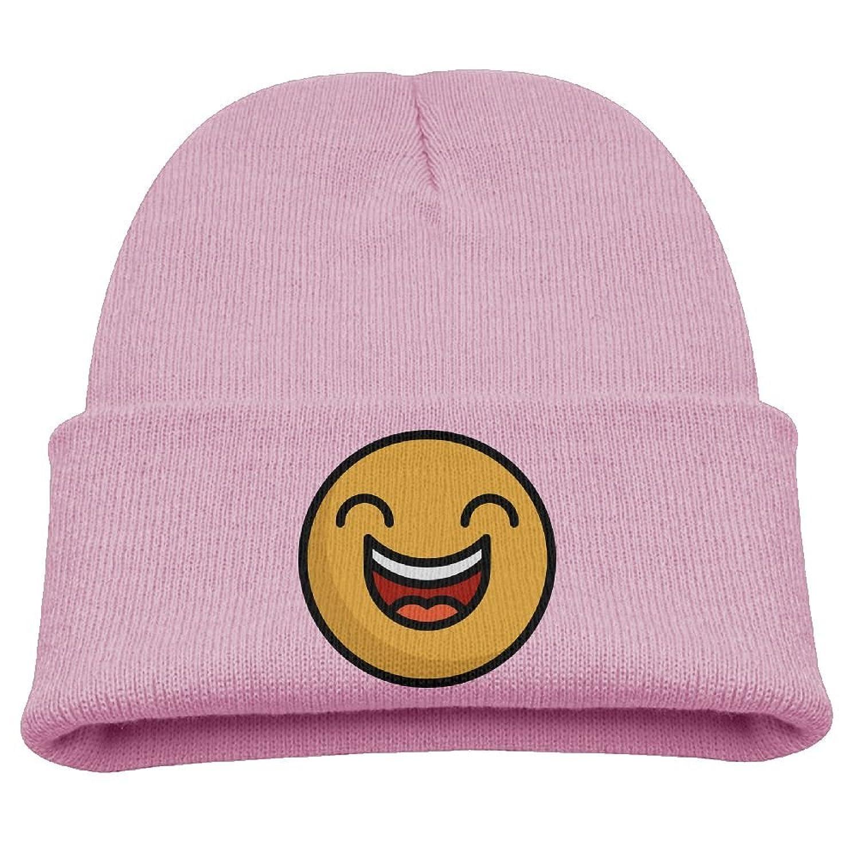 32ae9bb372da7 OQHO12 Happy Emoji Kids Hat Warm Soft Fashion Cute Knitted Cap For Autumn  Winter
