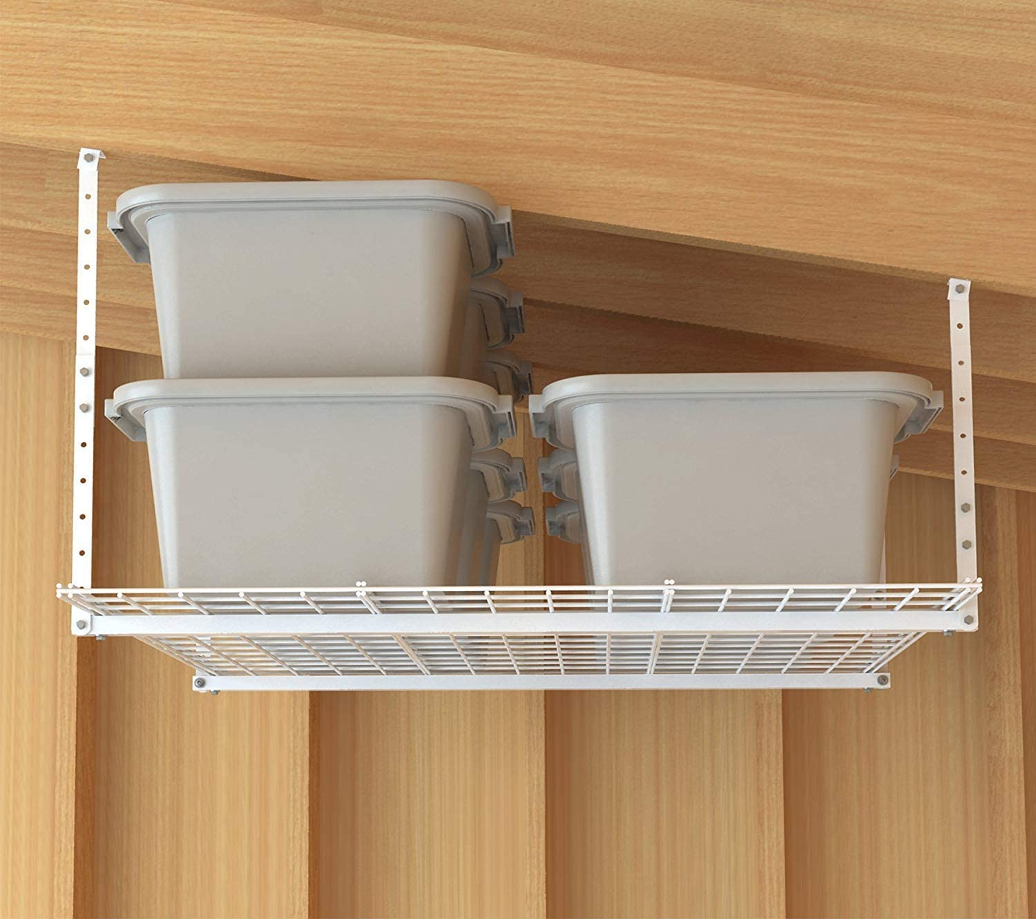 HyLoft 45-Inch by 45-Inch Overhead Storage System, Ceiling Mount Garage Organization Rack