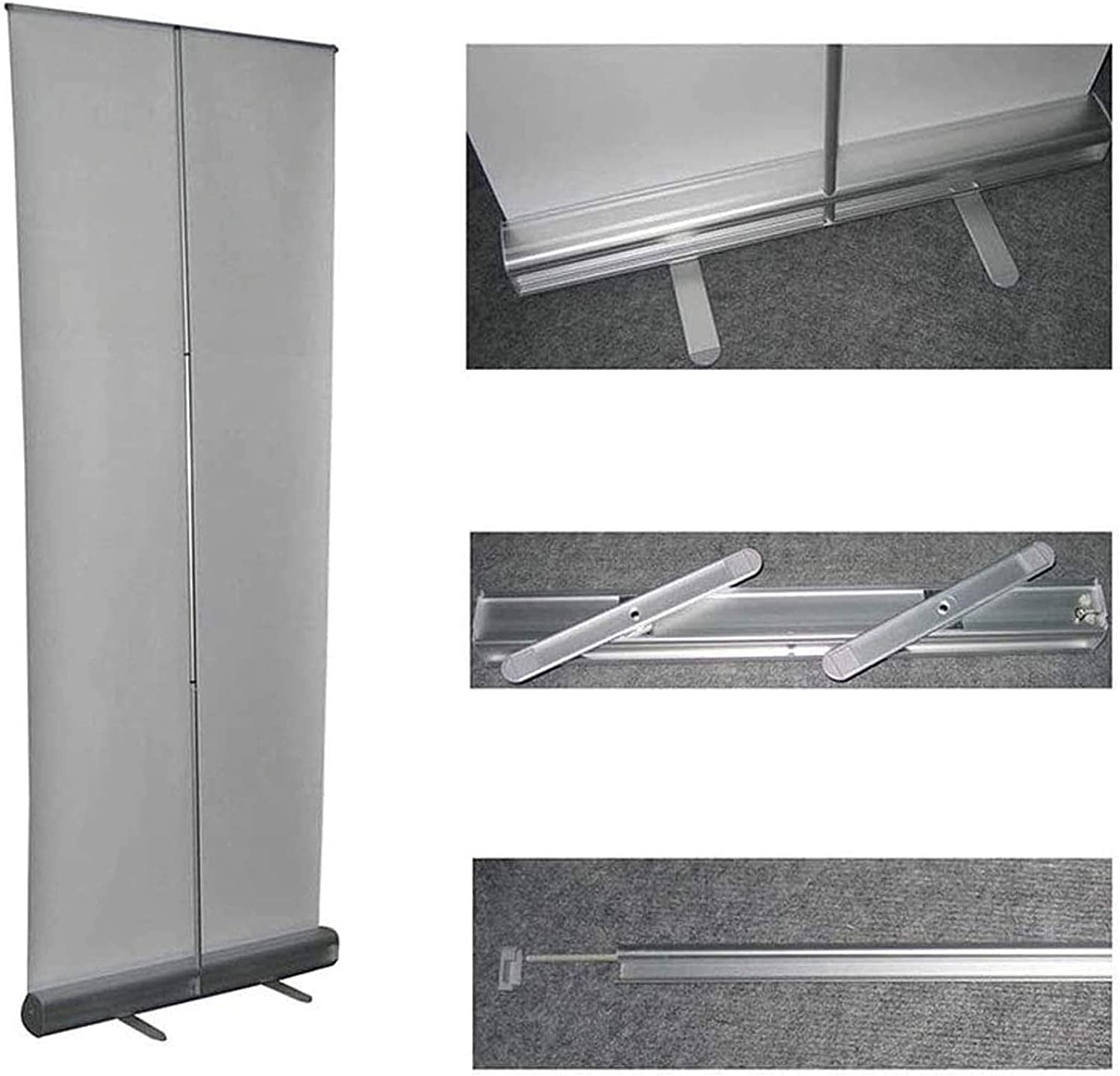TCYLZ Pull-Out Banner Floor Portable Retractable Standing Sneeze Guard with Non-Woven Bags for Office Stores Restaurant Classroom and More,80180cm Size : Plastic Steel 60160