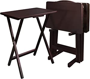 Casual Home 5pcs Tray Table Set, Espresso (New)
