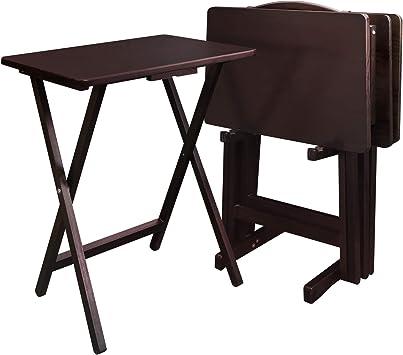 Amazon.com: Bandeja mesa (5 unidades) acabado: Café Expreso ...