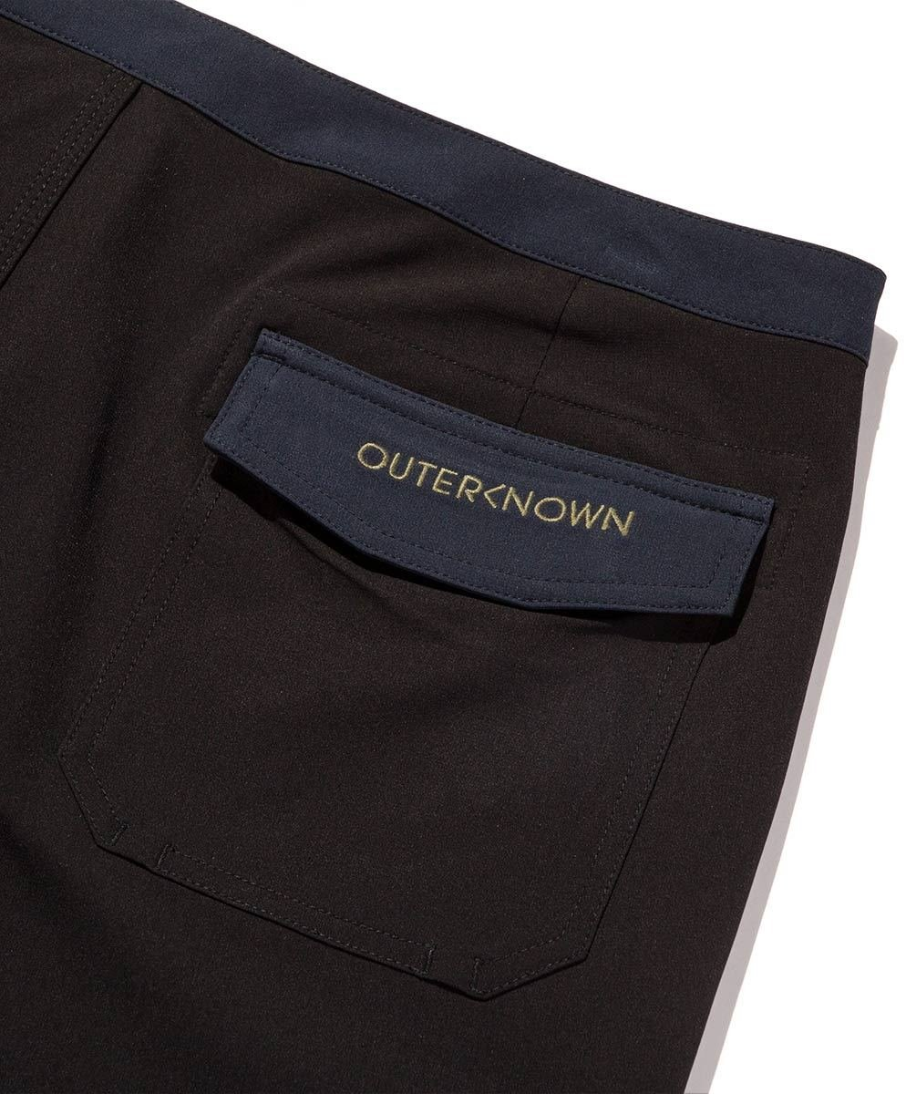 Outerknown Men's Modern Scallop Trunk, 32, Bright Black by Outerknown (Image #1)