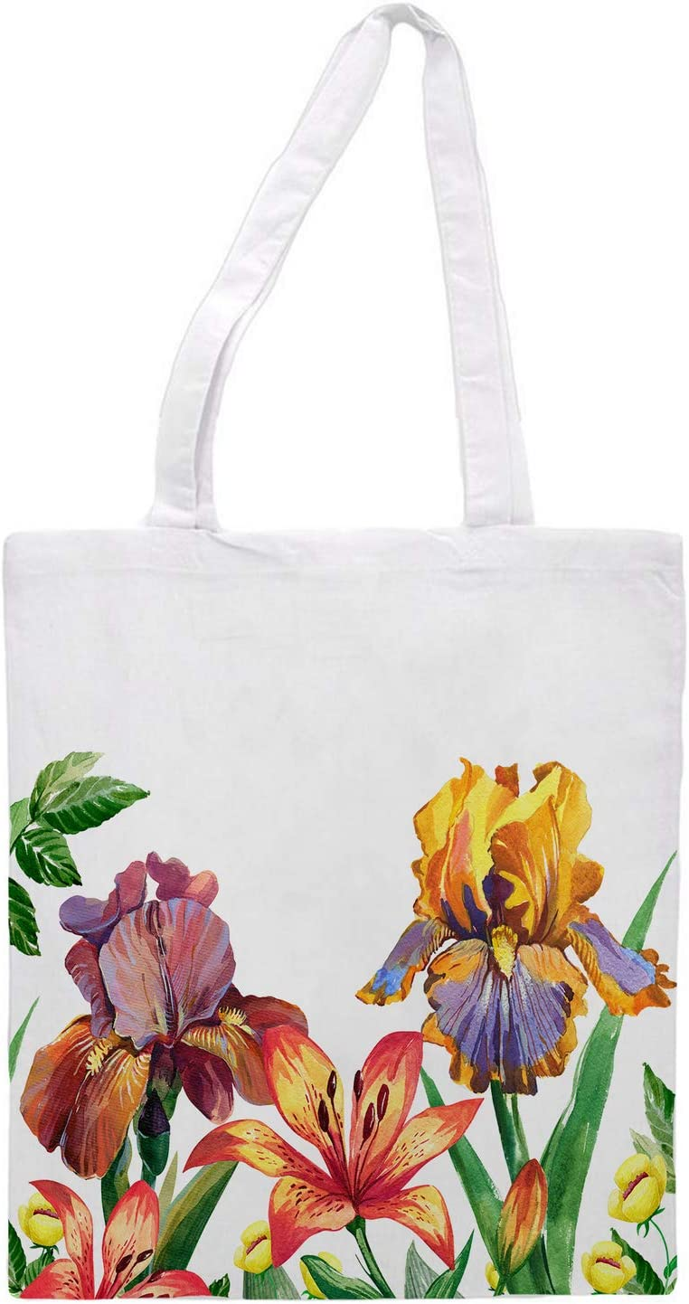 Women's tote bag/Spring flowers/ - Sports Gym Lunch Yoga Shopping Travel Bag Washable - 1.47X0.98 Ft