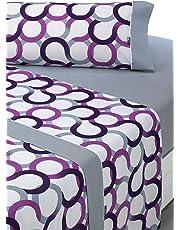 SABANALIA - Juego de sábanas Estampadas Aros (Disponible en Varios tamaños y Colores),