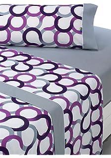 SABANALIA - Juego de sábanas Estampadas Aros (Disponible en Varios tamaños y Colores),…