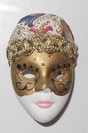 3D de arlequín de la muñeca máscara - única del imán del refrigerador - festivo de