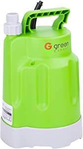 Green Expert 203618 1/4HP Submersible Utility Pump Max 1585 GPH High Flow for Quickly Flood Water Removal, Household DIY Drain Pump for Dewatering Application, Suit to Standard Garden Hose, 25ft cord