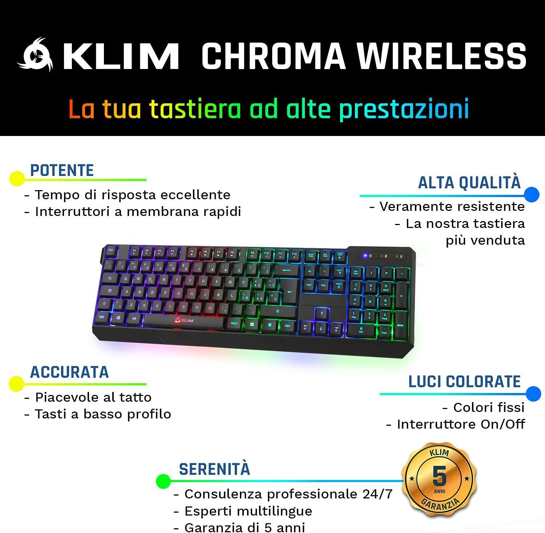 ⭐️KLIM™ Chroma Teclado Inalámbrico Gaming en ITALIA ...