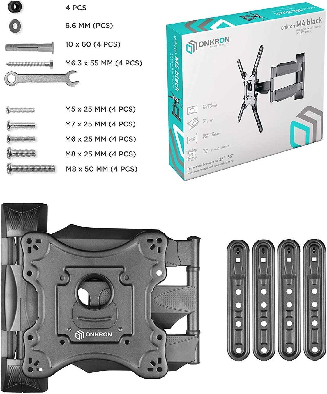 ONKRON TV Wall Mount Bracket Full Motion 32