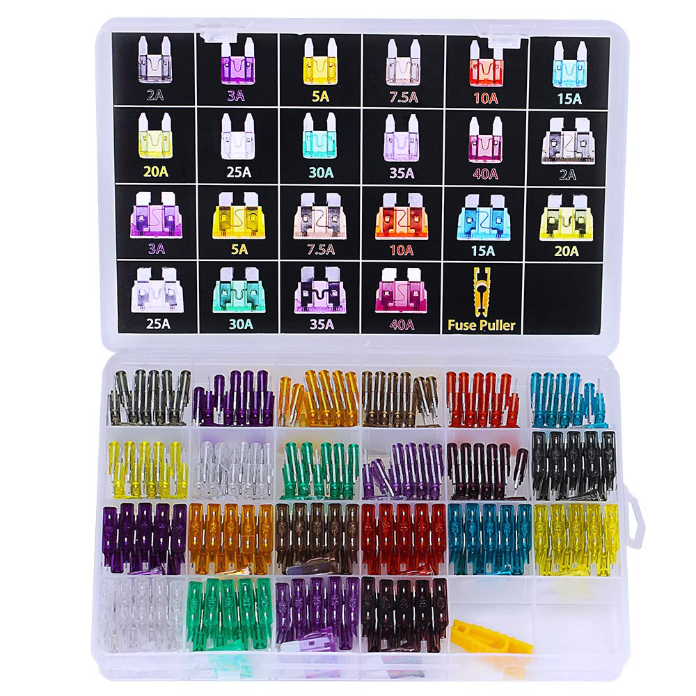 242pcs Assorted Standard & Mini Auto Car Truck Blade Fuses Set- 2A 3A 5A 7.5A 10A 15A 20A 25A 30A 35A 40A-ATC/APR/ATO+ATM Mini Automotive Replacement Fuse Assortment Kit w/A Puller for Boat,RV,SUV by besttoyhome (Image #2)