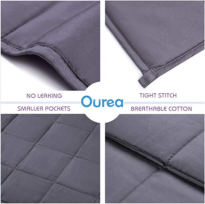 """Ourea Cooling Summer Weighted Blanket 20 Lbs60"""" × 80""""Queen Size Heavy"""
