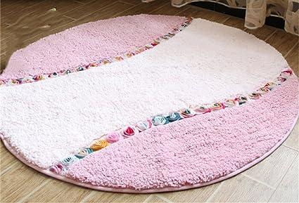 Tappeto Da Salotto Rosa : Zhdc® tappeto fiori di rosa rotondo bella tappeto rurale camera da