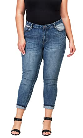 ba36b3f3 Clingers Women's Plus-Size Relaxed Fit Jeans at Amazon Women's Jeans ...