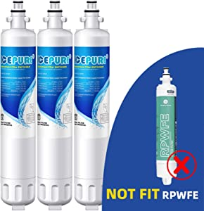 ICEPURE RPWF Refrigerator Water Filter Replacement For GE RPWF, WATER SENTINEl WSG-4, RWF3600A, 3PACK