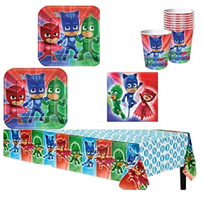 PJ Mask Party Supply Kit for 16 Guests: Toys & Games