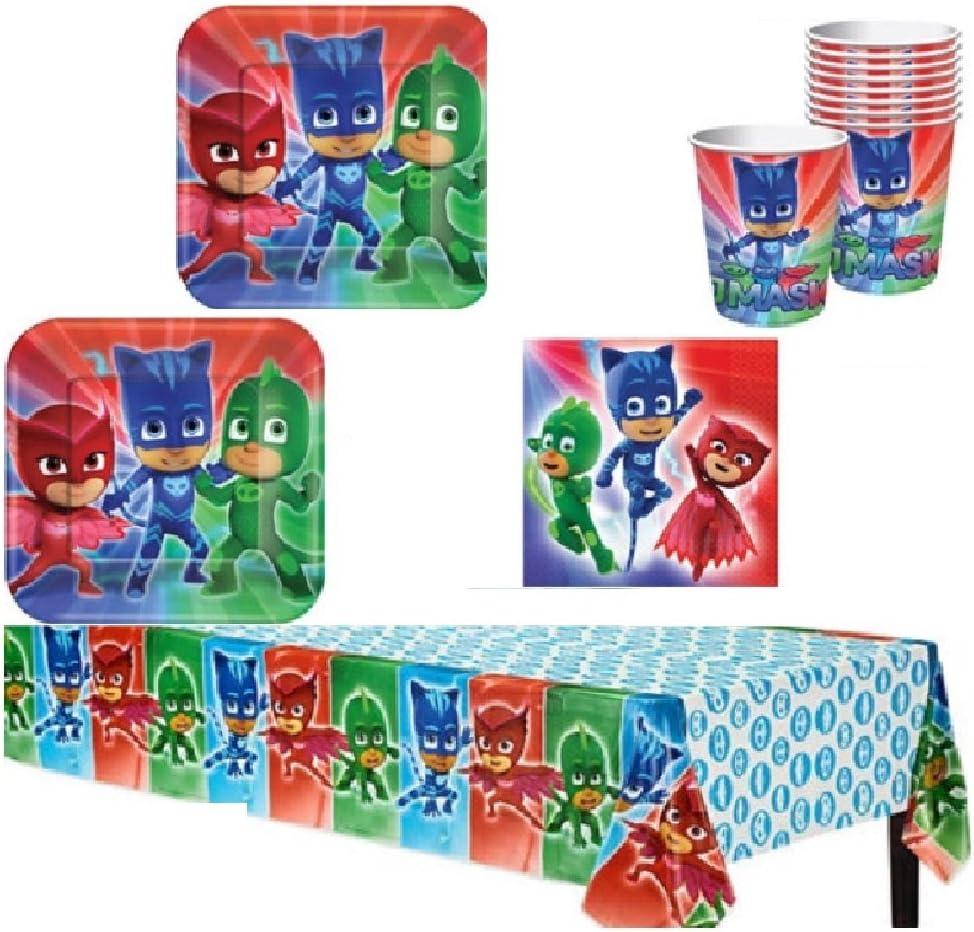 Amazon.com: PJ Mask Party Supply Kit para 16 invitados: Toys ...